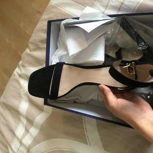 Stuart Weitzman Shoes - Stuart Weitzman 100 square nudist Black luxe